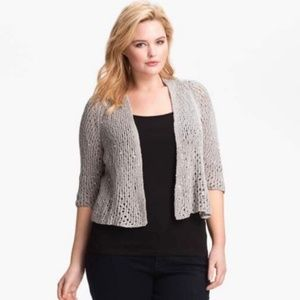 Eileen Fisher sequin loose knit open cardigan